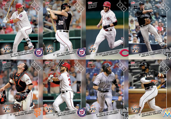 2017 Topps Now National League All-Star Set