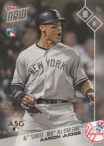 2017 Topps Now Platinum All-Star AS-14 Aaron Judge