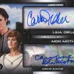 2017 Topps Star Wars Galactic Files Reborn Dual Autograph Carrie Fisher Caroline Blakiston