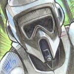 2017 Topps Star Wars Galactic Files Reborn Sketch Card Brad Hudson