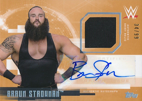 2017 Topps WWE Undisputed Autographed Relic Braun Stroman