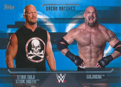 2017 Topps WWE Undisputed Dream Matches Stone Cold Steve Austin Goldberg