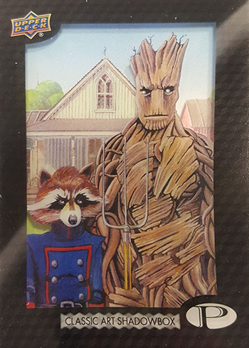 2017 Upper Deck Marvel Premier Classic Art Shadowbox Rocket Groot