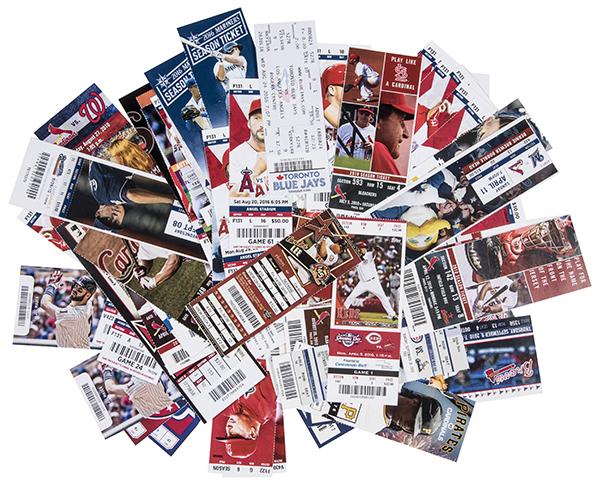 Albert Pujols Home Run Tickets Goldin Auctions July-2017 600