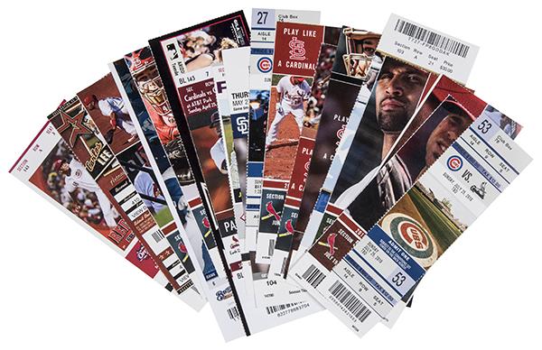 Albert Pujols Home Run Tickets Goldin Auctions July-2017 B 600