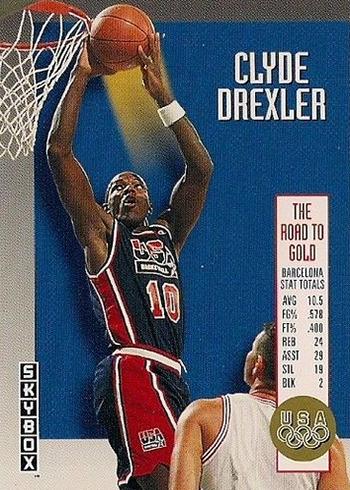 1992-93 SkyBox Olympic Team USA1 Clyde Drexler
