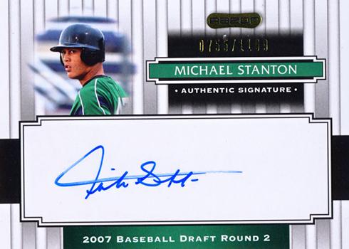 2008 Razor Signature Series Giancarlo Stanton Autograph