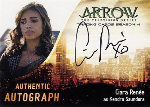 2017 Cryptozoic Arrow Season 4 Ciara Renee Autograph