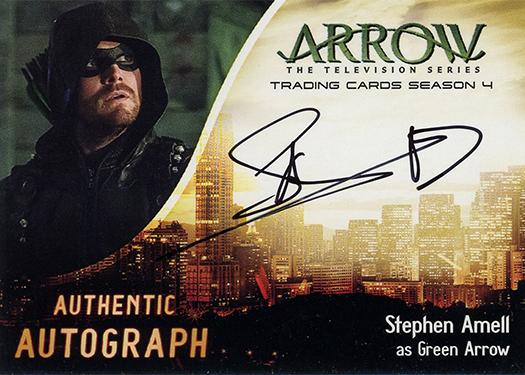 2017 Cryptozoic Arrow Season 4 Stephen Amell Autograph