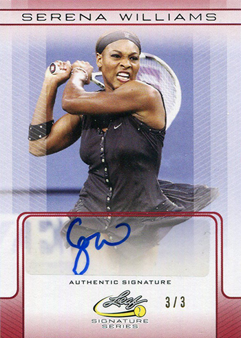 2017 Leaf Signature Series Tennis Serena Williams Autograph