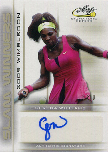 2017 Leaf Signature Series Tennis Slam Winners Serena Williams Autograph