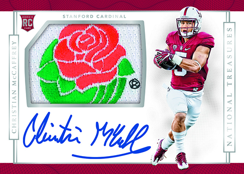 2017 Panini National Treasures Collegiate Football Patch Auto McCaffrey