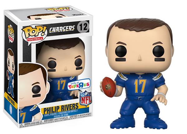 2017 Funko POP NFL Wave 4 12 Philip Rivers Color Rush Variant