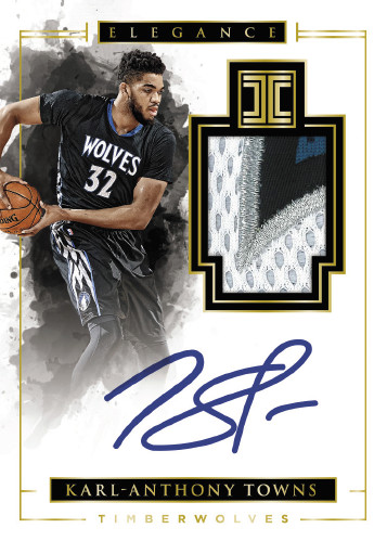 2016-17 Panini Impeccable Basketball Karl-Anthony Towns Autograph Patch