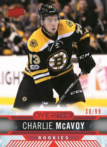 2017-18 Upper Deck Overtime Hockey Red Foil Charlie McAvoy