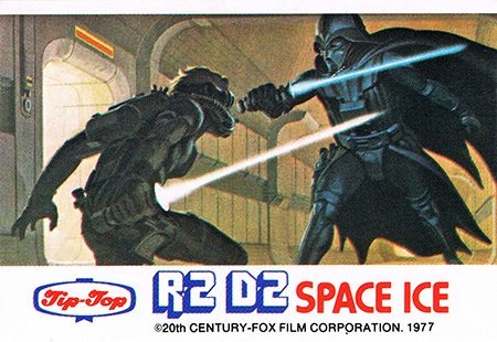 1977 Star Wars Tip Top Ice Cream Space Ice Stickers Luke vs Vader - Painting