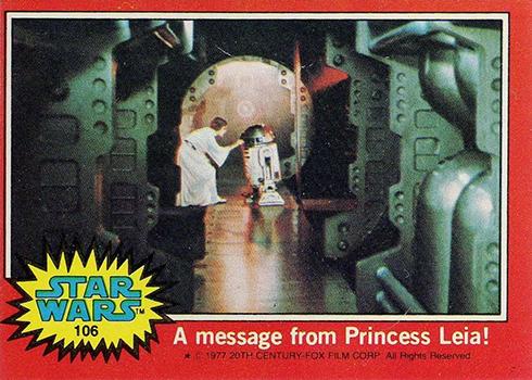 1977 Topps Star Wars Series 2 106