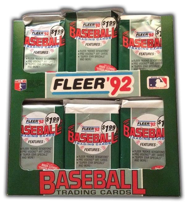 1992 Fleer Baseball Cello Box