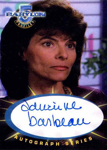 1999 SkyBox Babylon 5 Profiles Adrienne Barbeau Autograph