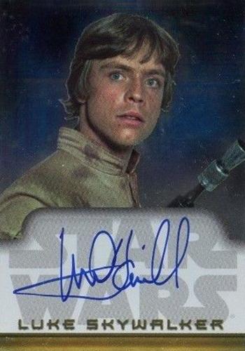 2004 Topps Star Wars Heritage Mark Hamill Autograph