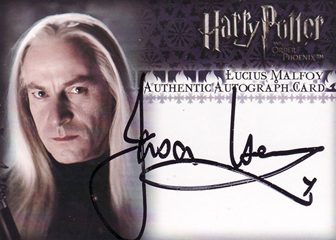 2007 Artbox Harry Potter and the Order of the Phoenix Jason Isaacs Autograph