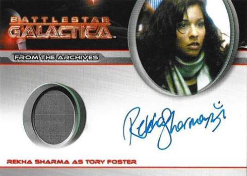 2009 Rittenhouse Battlestar Galactica Season 4 Autographed Costume Rekha Sharma