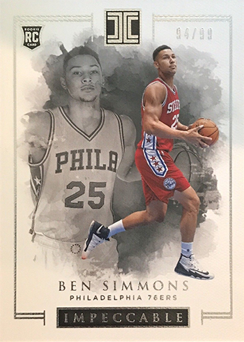 2016-17 Panini Impeccable Basketball Ben Simmons RC
