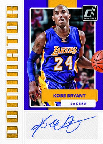 2017-18 Donruss Dominators Autographs Kobe Bryant
