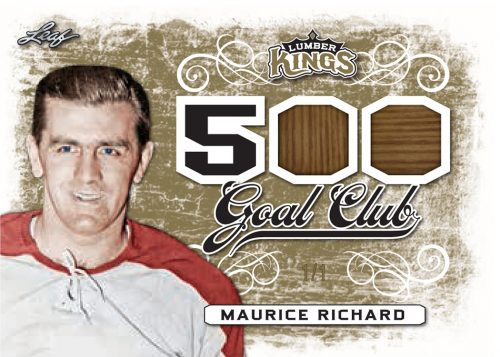 2017-18 Leaf Lumber Kings Hockey 500 Goal Club Maurice Richard