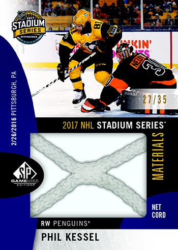 2017-18 SP Game Used Hoceky Stadium Series Materials Phil Kessel