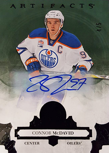 2017-18 Upper Deck Artifacts Hockey Black Connor McDavid Autograph