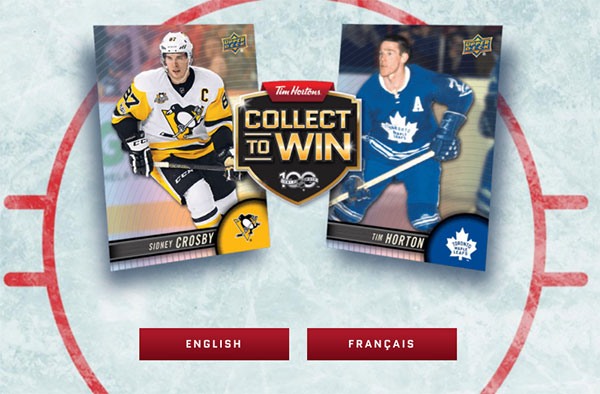 2017-18 Upper Deck Tim Hortons Collect to Win