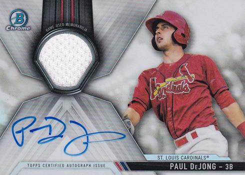 2017 Bowman Chrome Baseball Chrome Autograph Relics Paul DeJong