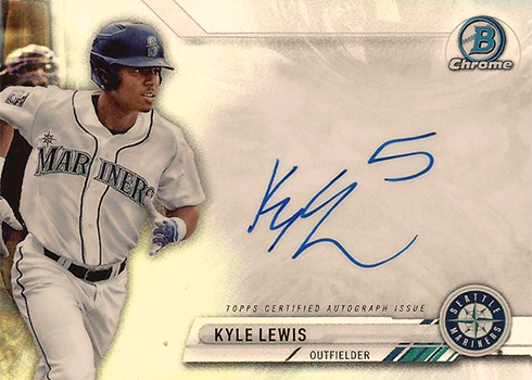 2017 Bowman Chrome Baseball Prime Chrome Signatures Kyle Lewis