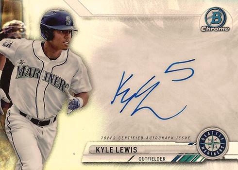 2017 Bowman Chrome Baseball Prime Chrome Signatures Kyle Lewis