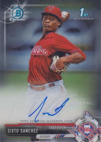 2017 Bowman Chrome Baseball Chrome Prospect Autographs Sixto Sanchez