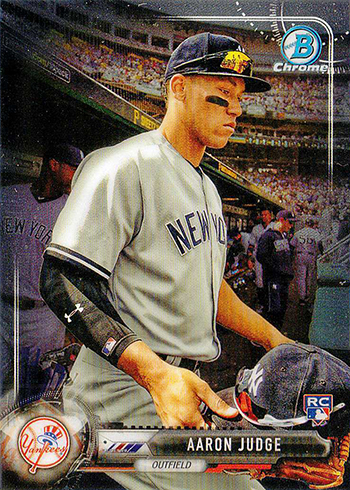 2017 Bowman Chrome Variations Aaron Judge