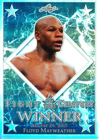 2017 Leaf Metal Fight of the Century Floyd Mayweather Silver Prismatic