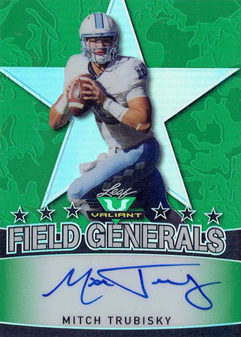 2017 Leaf Valiant Football Field Generals Mitch Trubisky Autograph