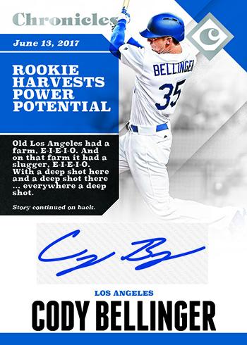 2017 Panini Chronicles Baseball Chronicles Autographs
