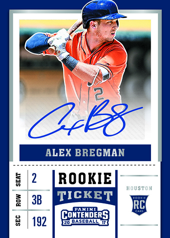 2017 Panini Chronicles Baseball Contenders Rookie Ticket Autographs