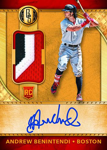 2017 Panini Chronicles Baseball Gold Standard Rookie Jersey Autographs
