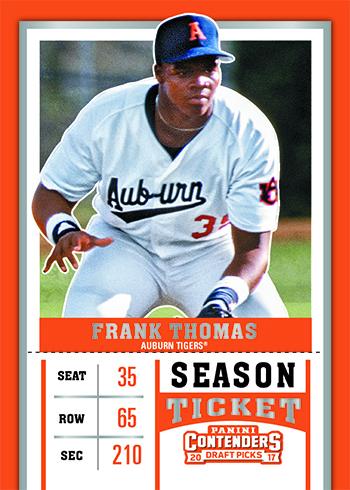 2017 Panini Contenders Draft Picks Baseball Frank Thomas