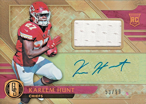 2017 Panini Gold Standard Kareem Hunt Rookie Card