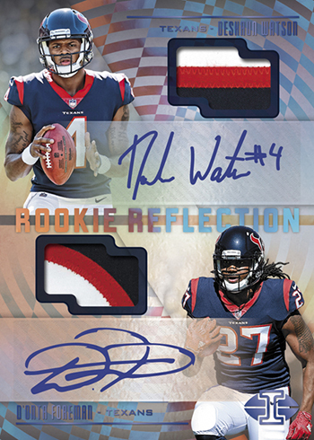 2017 Panini Illusions Football Rookie Reflection Dual Autograph Patch