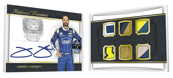 2017 Panini National Treasures Racing Signature Six Way Jimmie Johnson