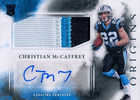 2017 Panini Origins Christian McCaffrey Rookie Card Autograph Patch