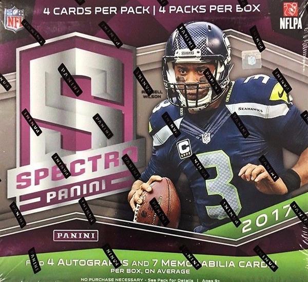 2017 Panini Spectra Football Hobby Box
