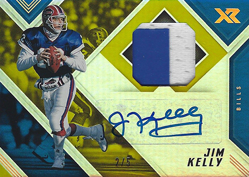 2017 Panini XR Football Autographed Swatches Gold Jim Kelly