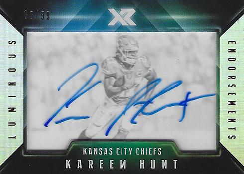 2017 Panini XR Football Luminous Endorsements Kareem Hunt